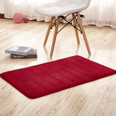 Buy WINE RED 140X200CM Bathroom Mat Soft Solid Coral Fleece Thick Antiskid Water Absorption Mat for $62.39 in GearBest store