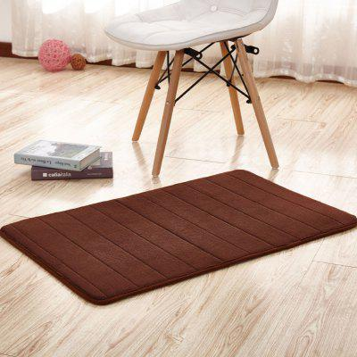 Buy COFFEE BROWN 140X200CM Bathroom Mat Soft Solid Coral Fleece Thick Antiskid Water Absorption Mat. for $62.39 in GearBest store