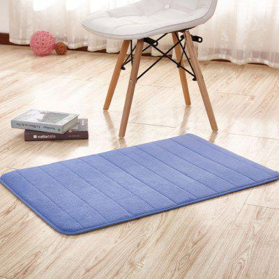 Buy BLUE VIOLET 40X60CM Bathroom Mat Soft Solid Coral Fleece Thick Antiskid Water Absorption Mat for $8.01 in GearBest store