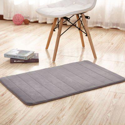 Buy GRAY 80X120CM Doormat Coral Fleece Thick Anti Skidding Soft Solid Kitchen Mat for $24.35 in GearBest store