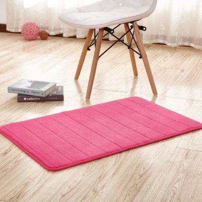 Buy ROSE RED 40X60CM Doormat Coral Fleece Thick Anti Skidding Soft Solid Kitchen Mat for $8.01 in GearBest store