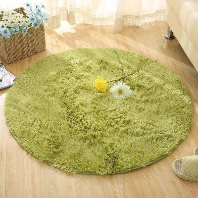 Buy GREEN 120X120CM Round Rug Simple Solid Design Multipurpose Floor Mat for $27.55 in GearBest store