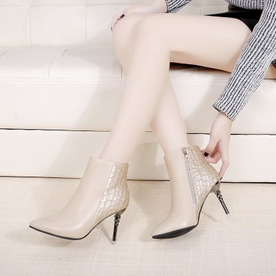 Sexy Crack Pointed Thin Boots WomenWomens Boots<br>Sexy Crack Pointed Thin Boots Women<br><br>Boot Height: Ankle<br>Boot Type: Fashion Boots<br>Closure Type: Zip<br>Gender: For Women<br>Heel Height: 8<br>Heel Height Range: High(3-3.99)<br>Heel Type: Stiletto Heel<br>Insole Material: Rubber<br>Lining Material: Plush<br>Outsole Material: Rubber<br>Package Contents: 1 xShoes(pair)<br>Pattern Type: Solid<br>Platform Height: 1<br>Season: Spring/Fall, Winter<br>Shoe Width: Medium(B/M)<br>Toe Shape: Pointed Toe<br>Upper Material: PU<br>Weight: 4.8000kg
