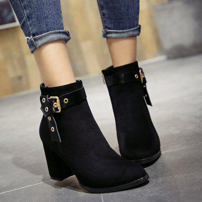 2017 New Sexy Pointed Rough with Boots WomenWomens Boots<br>2017 New Sexy Pointed Rough with Boots Women<br><br>Boot Height: Ankle<br>Boot Tube Height: 10<br>Boot Type: Fashion Boots<br>Closure Type: Zip<br>Embellishment: Buckle<br>Gender: For Women<br>Heel Height: 8<br>Heel Height Range: High(3-3.99)<br>Heel Type: Chunky Heel<br>Insole Material: Rubber<br>Lining Material: Plush<br>Outsole Material: Rubber<br>Package Contents: 1 xShoes(pair)<br>Pattern Type: Solid<br>Platform Height: 1<br>Season: Spring/Fall, Winter<br>Shoe Width: Medium(B/M)<br>Toe Shape: Pointed Toe<br>Upper Material: Flock<br>Weight: 5.2500kg