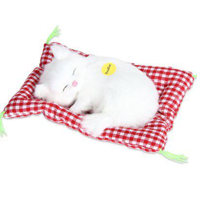 Stuffed Lovely Simulation Animal Doll Plush Sleeping Cats Toy with Sound