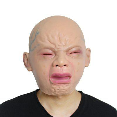Novelty Crying Baby Mask Halloween Costume Party Latex Head Mask