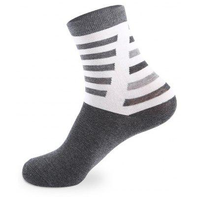 Buy COLORMIX Slant Striped Elastic Knitting Socks 5 Pairs for $20.36 in GearBest store