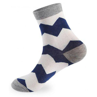 Buy COLORMIX Wave Stripe Elastic Knit Socks 5 Pairs for $20.36 in GearBest store