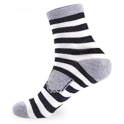 Buy COLORMIX Shield and Stripes Elastic Knit Socks 5 Pairs for $20.36 in GearBest store