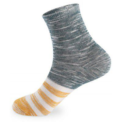 Buy COLORMIX Retro Stripe Elastic Knit Socks 5 Pairs for $20.36 in GearBest store