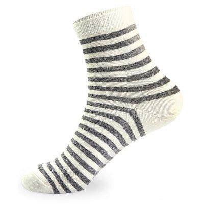 Buy COLORMIX Stripes Graphic Elastic Knit Socks 5 Pairs for $20.36 in GearBest store