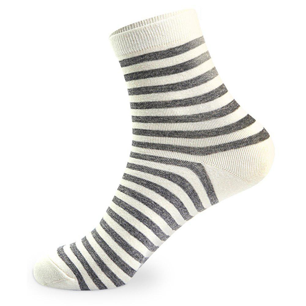 COLORMIX Stripes Graphic Elastic Knit Socks 5 Pairs