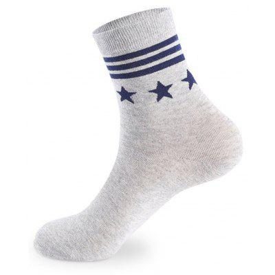 Buy COLORMIX Stars Stripe Graphic elastic knit socks 5 pairs for $20.36 in GearBest store