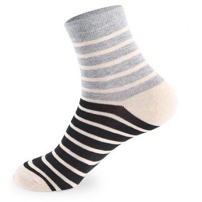 Buy COLORMIX Spell Color Stripe Elastic Knit Socks 5 Pairs for $20.36 in GearBest store