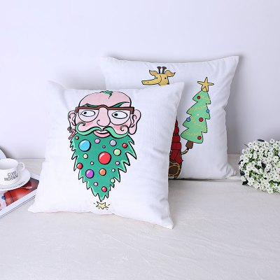 Christmas, Santa Claus and Giraffes.Tapestries<br>Christmas, Santa Claus and Giraffes.<br><br>Category: Mat<br>Color: White,Assorted Colors<br>For: All<br>Material: Cotton<br>Occasion: Office, Bedroom, Living Room, KTV<br>Package Contents: 1xpillow<br>Package size (L x W x H): 45.00 x 45.00 x 10.00 cm / 17.72 x 17.72 x 3.94 inches<br>Package weight: 0.5000 kg<br>Type: Leisure, Comfortable, Decoration