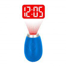 BRELONG Digital projection clock key ring Mini LCD projection clock
