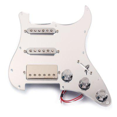 Loaded Prewired Pickguard Set SSH Alnico Dual Rail Humbucker for Fender Strat ST Electric Guitar Replacement