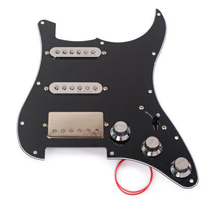 Loaded Prewired Pickguard Set SSH Alnico Dual Rail Humbucker for  ST Electric Guitar Replacement