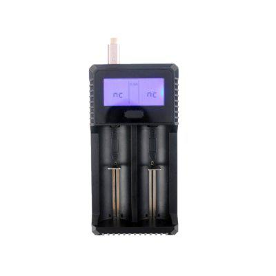 ZH-221C 2 Slot Smart LCD Battery Charger with PowerBank Function for Li-Ion Or Ni-MH 10340 To 26650 Rechargeable Battery