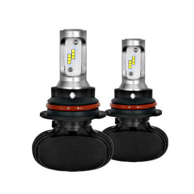 9004/HB1 High Power Cool White 6000K LED Headlight Car Light Bulbs HID Xenon Halogen Replacement Pack of 2