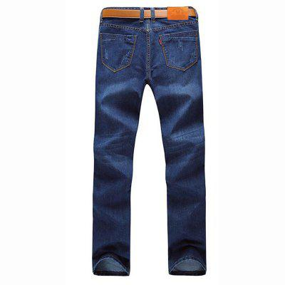 Mens Mid Rise Micro Elastic Jeans Pants Simple Straight Solid JeansMens Pants<br>Mens Mid Rise Micro Elastic Jeans Pants Simple Straight Solid Jeans<br><br>Fit Type: Straight<br>Material: Jeans<br>Package Contents: 1 X Jeans<br>Pant Length: Long Pants<br>Wash: Light<br>Weight: 0.4900kg