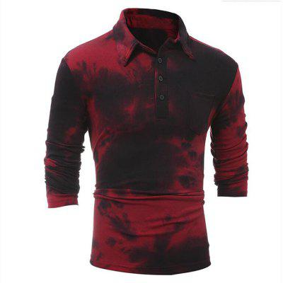 Buy RED 2XL Men's Casual Daily Simple Shirt Check Stand Long Sleeves Cotton T-shirt for $27.51 in GearBest store
