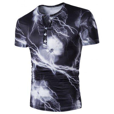 Men's Casual Daily Simple Spring Summer T-shirt Short Sleeve Camouflage Round Neck Shirt
