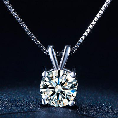 White Gold Plated Vintage Diamond Wedding Chain Necklace for Women MSN002