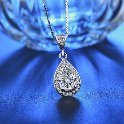 Water Drop shaped crystal diamond White GoldNecklace for Women Luxury Pendant MSN003Necklaces &amp; Pendants<br>Water Drop shaped crystal diamond White GoldNecklace for Women Luxury Pendant MSN003<br>