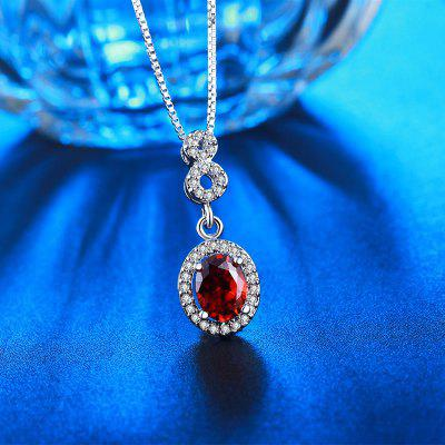 MDEAN White Gold Plated Necklace Red Gem AAA Zircon Vintage Wedding Pendant for Women MSN011Necklaces &amp; Pendants<br>MDEAN White Gold Plated Necklace Red Gem AAA Zircon Vintage Wedding Pendant for Women MSN011<br>
