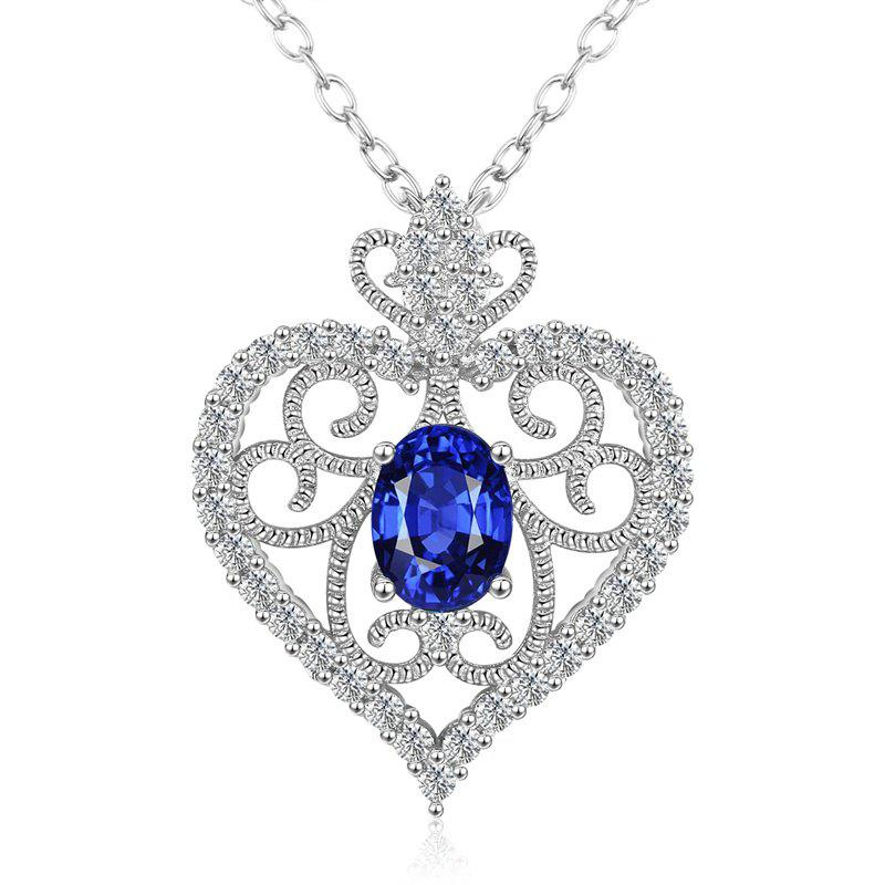 necklace t diamond gold products and sapphire blue meira bs