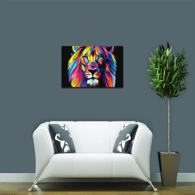 Abstract Colorful Lion Without Frame Oil Painting
