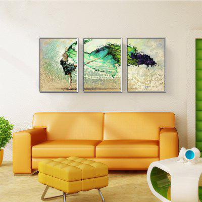 3PCS Dancing Youth Without Frame Oil Painting