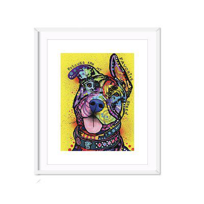 Abstract Cute Dog Without Frame Oil Painting