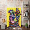 Abstract Cute Dog Without Frame Oil Painting - COLOUR