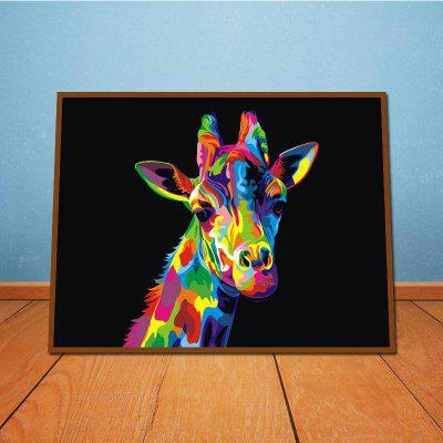 Lovely Giraffe Without Frame Oil Painting