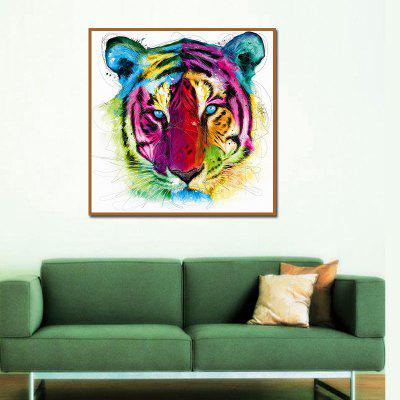 Colorful Tiger Abstract Oil Painting Home Decoration