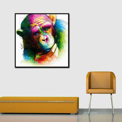 Colorful and Lovely Orangutan Oil Painting