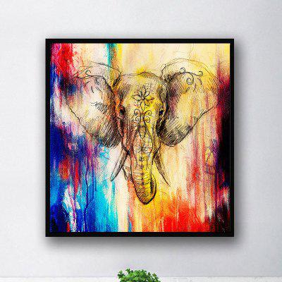 Colorful Elephant Without Frame Oil Painting