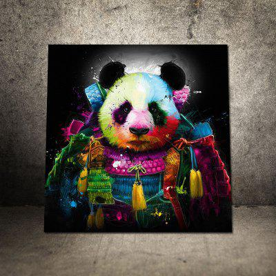 Cute Giant Panda Abstract Colorful Canvas
