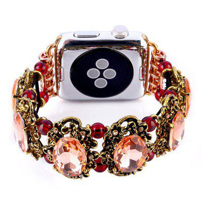 Handmade Elastic Faux Rhinestonel Jewelry Watch Band for Apple Watch 38mm  Series 3 / 2 / 1