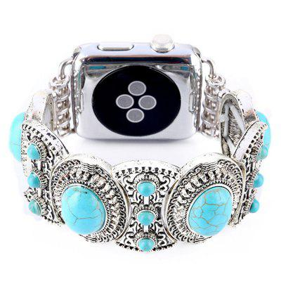 Handmade Elastic Faux Rhinestone Jewelry Watch Band for Apple Watch 38mm  Series 3 / 2 / 1