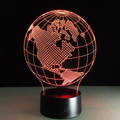 Yeduo Nightlight Acrylic Pane Table Lamps Map of Americas Shape Colorful Night Lamp Children Birthday Present Veilleuses Pour Enfants
