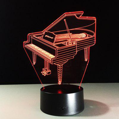 Yeduo Novelty 3D Piano Usb Night Light Lamp Gadgets 7 Color Changing Home Beddside Lampara for Child New Year Gift Remote Control