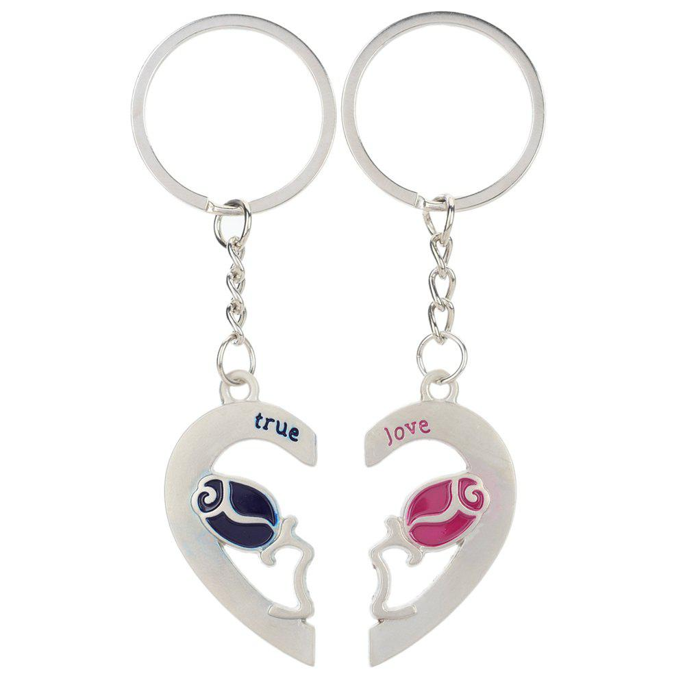 Heart-shaped rose Valentine\'s Day Keychain Favors Wedding Souvenirs ...