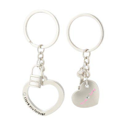 Heart-shaped Valentine's Day Keychain Favors Wedding Souvenirs men and women key ring Gifts
