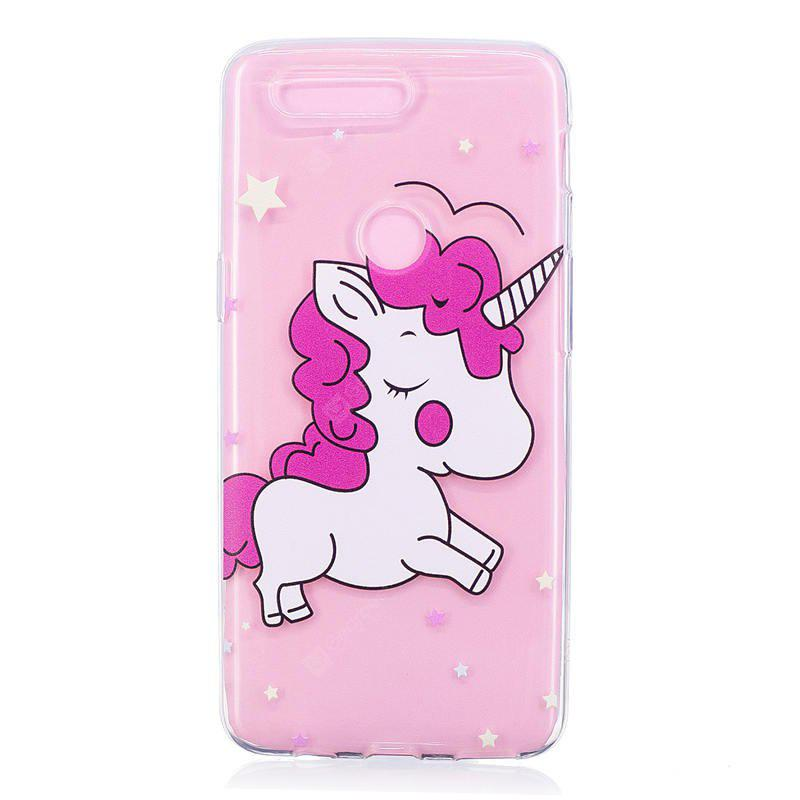 TPU Material Pink Unicorn Pattern Painted Case per OnePlus 5T