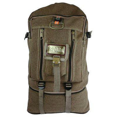 Ultra-large Capacity Outdoor Mountaineering Travel Bag Cowboy Canvas Backpack