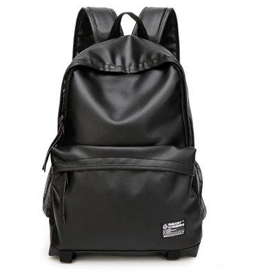 PU Leather Simple Trend preppy style Men's Backpack