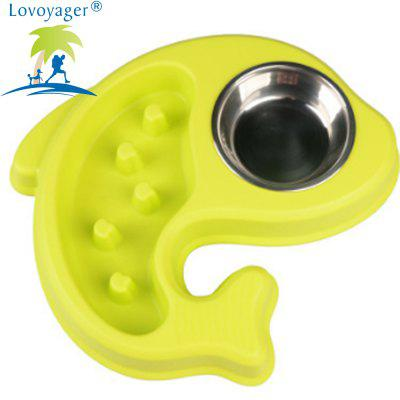 Lovoyager LVC1207 Pet Fish Slow Food and Drink BowlDog Feeding Supplies<br>Lovoyager LVC1207 Pet Fish Slow Food and Drink Bowl<br><br>Brand: Lovoyager<br>For: Cats, Dogs<br>Material: PP, Stainless Steel<br>Package Contents: 1 x Dog Bowl<br>Package size (L x W x H): 32.00 x 15.00 x 6.00 cm / 12.6 x 5.91 x 2.36 inches<br>Package weight: 0.4000 kg<br>Season: All seasons<br>Type: Bowls